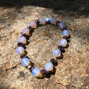 Handmade moon beads bracelet!!